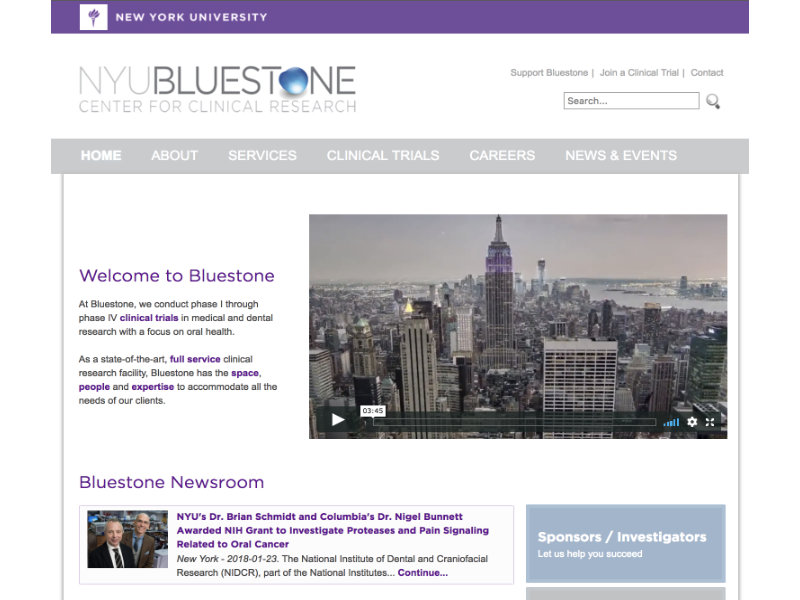 NYU Bluestone Center